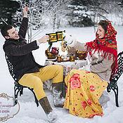 """Свадебный салон ручной работы. Ярмарка Мастеров - ручная работа Оформление фотосессии в русском стиле """"Морозко"""". Handmade."""
