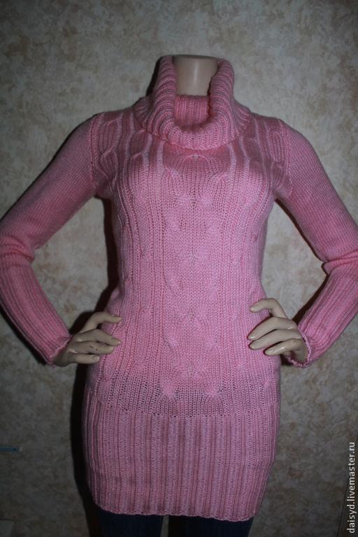 Кофты и свитера ручной работы. Ярмарка Мастеров - ручная работа. Купить Свитер женский, нежно-розовый, полушерсть.. Handmade.