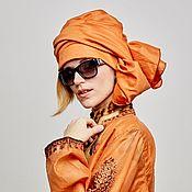 Аксессуары handmade. Livemaster - original item Convertible turban of red cotton. Handmade.