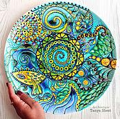 Plates handmade. Livemaster - original item