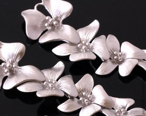 Для украшений ручной работы. Ярмарка Мастеров - ручная работа. Купить Подвеска каскадная (с пятью цветочками). Handmade. Подвеска