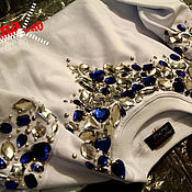 Одежда handmade. Livemaster - original item Sweatshirt with decorative stones. Handmade.