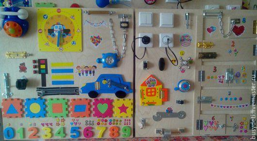 Развивающие игрушки ручной работы. Ярмарка Мастеров - ручная работа. Купить БИЗИБОРД - 35 деталей. Handmade. Комбинированный, доска с замочками