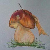 Картины и панно ручной работы. Ярмарка Мастеров - ручная работа Белый гриб. Handmade.