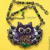 Украшения handmade. Livemaster - original item Amethyst owl. Handmade.