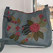 Сумки и аксессуары handmade. Livemaster - original item Roomy bag with flowers made of genuine leather art.1-419. Handmade.