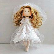 Куклы и пупсы ручной работы. Ярмарка Мастеров - ручная работа Кукла Невеста текстильная интерьерная игровая. Handmade.