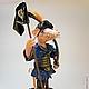 Куклы и игрушки ручной работы. Ярмарка Мастеров - ручная работа. Купить Пират Ганс-крысеныш (авторская статуэтка). Handmade. Кремовый