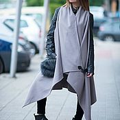 Одежда handmade. Livemaster - original item Spring cashmere vest, Vest with fur pockets-VE0041WL. Handmade.