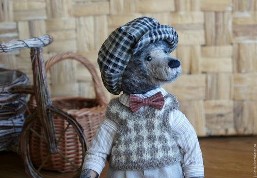 Мишки Тедди ручной работы. Ярмарка Мастеров - ручная работа. Купить Томас. Handmade. Серый, teddy bear, опилки древесные