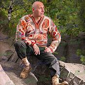 Одежда ручной работы. Ярмарка Мастеров - ручная работа Пуловер  «Карибская Сказка» из собачьей шерсти.. Handmade.