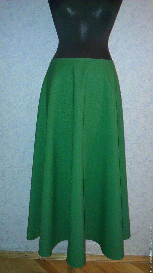 Юбки ручной работы. Ярмарка Мастеров - ручная работа. Купить Юбка полусолнце. Handmade. Зеленый, длинная юбка, короткая юбка