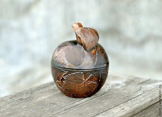 Шкатулки ручной работы. Ярмарка Мастеров - ручная работа. Купить Керамическое яблоко шкатулка. Handmade. Керамическая шкатулка, шкатулка в подарок