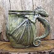 """Посуда ручной работы. Ярмарка Мастеров - ручная работа Кружка ,Дракон"""". Handmade."""