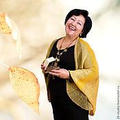 Аксессуары ручной работы. Ярмарка Мастеров - ручная работа Вязаная шаль Осенний лист Подарок для мамы. Handmade.