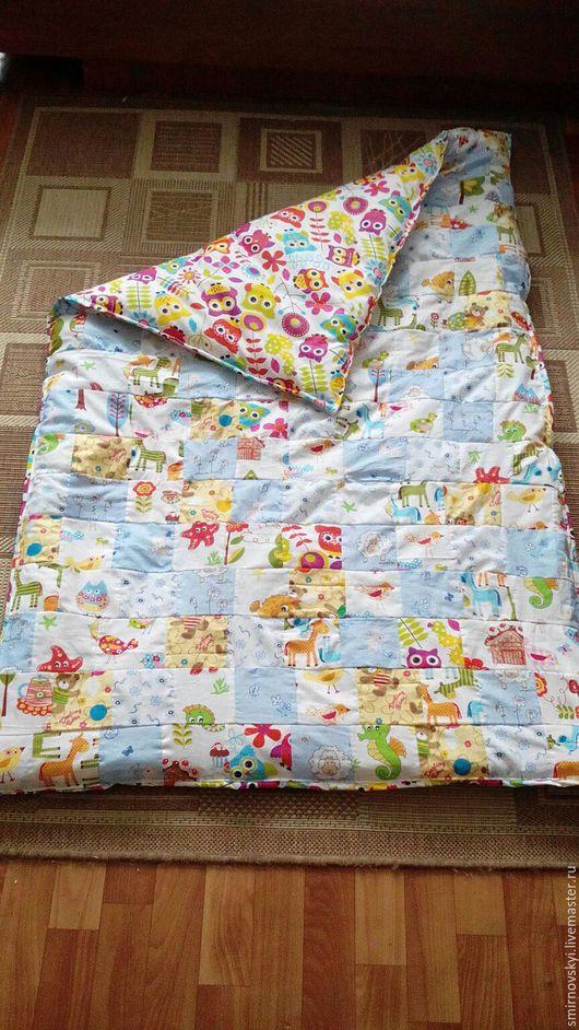 Детская ручной работы. Ярмарка Мастеров - ручная работа. Купить Детское лоскутное одеяло. Handmade. Комбинированный, лоскутная техника, поплин