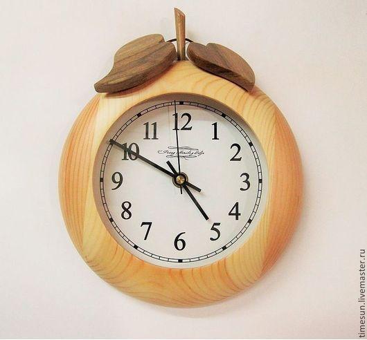 """Часы для дома ручной работы. Ярмарка Мастеров - ручная работа. Купить Часы настенные """"Яблоко"""". Handmade. Лимонный, часы"""