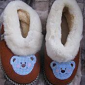 Обувь ручной работы. Ярмарка Мастеров - ручная работа Тапочки-чувяки из овчины 33 размер. Handmade.