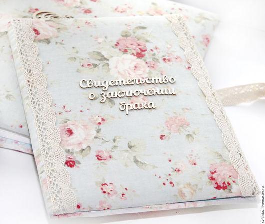 """Свадебные аксессуары ручной работы. Ярмарка Мастеров - ручная работа. Купить Папка для свидетельства о браке """"Shabby Chic"""" 3. Handmade."""
