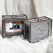 Фотоальбомы ручной работы. Ярмарка Мастеров - ручная работа Короб с фотоальбомами / Фоторамка-альбом. Handmade.