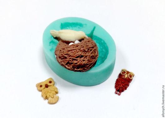 """Для украшений ручной работы. Ярмарка Мастеров - ручная работа. Купить Молд, форма """"Птица в гнезде"""" (арт.: 155). Handmade."""