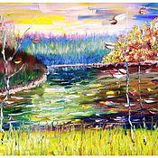 Картины и панно ручной работы. Ярмарка Мастеров - ручная работа Осенний Этюд. Handmade.