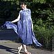 Платья ручной работы. Ярмарка Мастеров - ручная работа. Купить Платье-круг цвета Индиго. Handmade. Валяное платье, Валяние