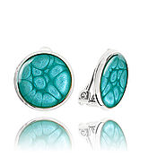 Украшения handmade. Livemaster - original item Earrings clip-on earrings sea waves for girls