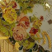Картины и панно ручной работы. Ярмарка Мастеров - ручная работа Картина на стекле Букет. Handmade.