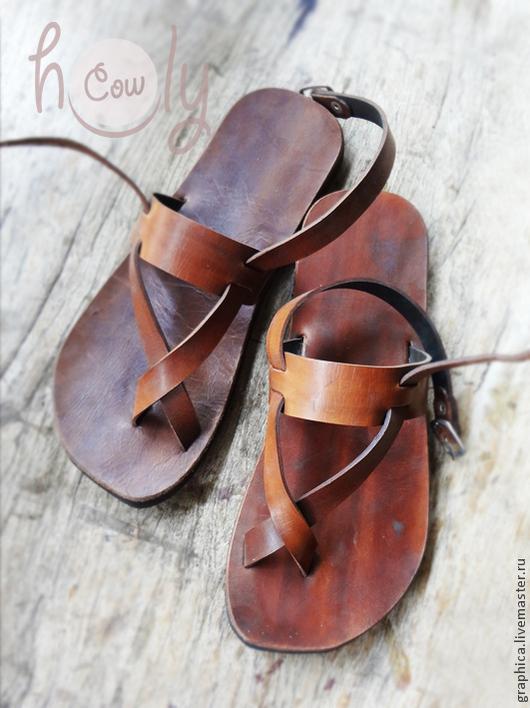 """Обувь ручной работы. Ярмарка Мастеров - ручная работа. Купить Кожаные сандалии """"Sparta"""". Handmade. Коричневый, обувь ручной работы"""