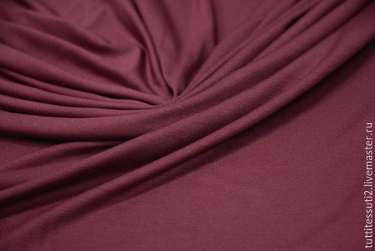 Шитье ручной работы. Ярмарка Мастеров - ручная работа. Купить Трикотаж 03-003-1614. Handmade. Пурпурно-красный