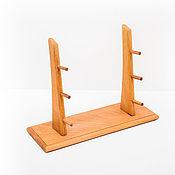Сувениры и подарки handmade. Livemaster - original item Stand for 3 knives with beech wood. Handmade.