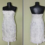 Одежда ручной работы. Ярмарка Мастеров - ручная работа Платье белое шелковое валяное. Handmade.