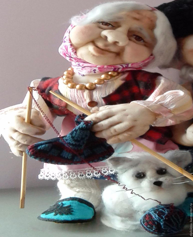 Кукла врач (чулочная техника)