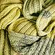 """Шарфы и шарфики ручной работы. Ярмарка Мастеров - ручная работа. Купить Шарф """"Foliage"""". Handmade. Салатовый, шарф мужской"""