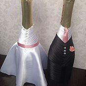 Свадебный салон ручной работы. Ярмарка Мастеров - ручная работа Свадебное шампанское под заказ. Handmade.