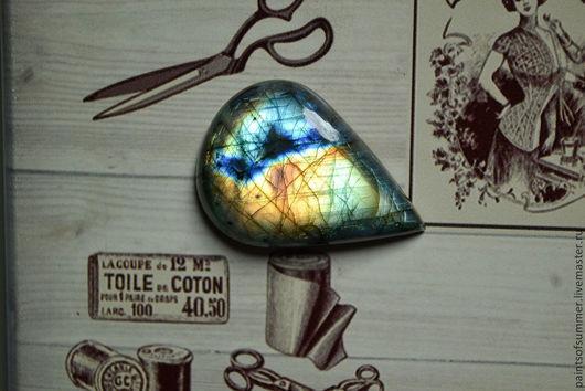 Для украшений ручной работы. Ярмарка Мастеров - ручная работа. Купить Лабрадор спектролит капля. Кабошон 54 Х 38 Х 10. Handmade.