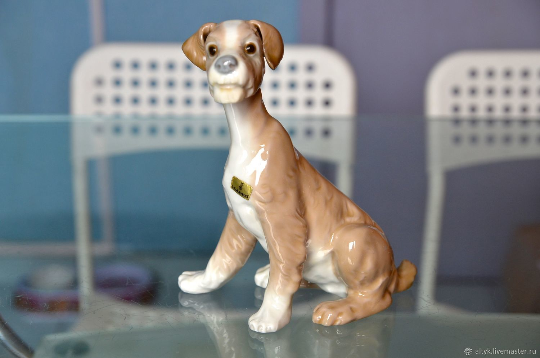 Винтаж: LLadro. 19 см. Фарфоровая статуэтка собаки. Испания, Предметы интерьера винтажные, Москва,  Фото №1