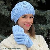 Аксессуары ручной работы. Ярмарка Мастеров - ручная работа Ажурная шапка и перчатки. Handmade.