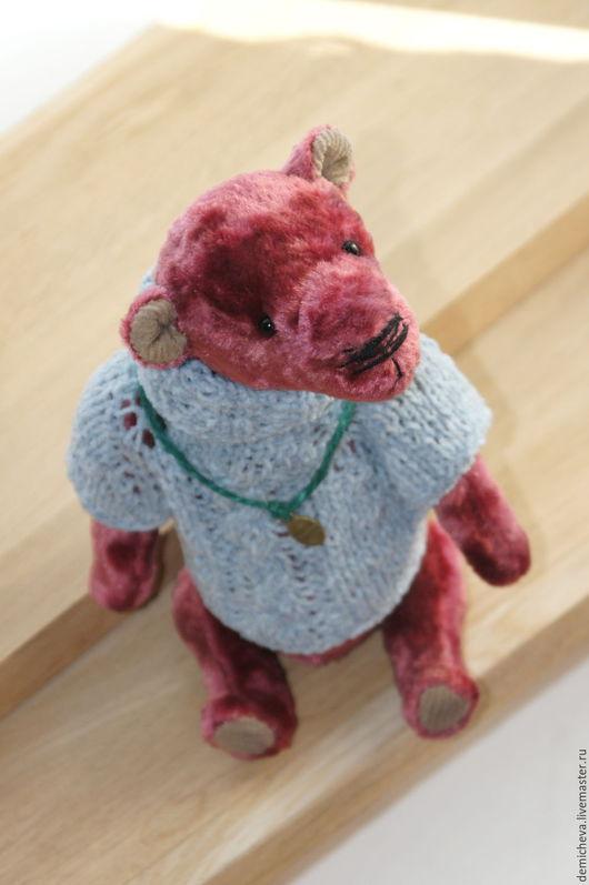 Мишки Тедди ручной работы. Ярмарка Мастеров - ручная работа. Купить Трофим. Handmade. Бордовый, мишка в подарок, теддик