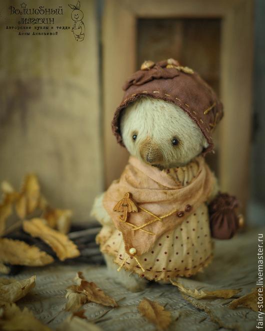 Мишки Тедди ручной работы. Ярмарка Мастеров - ручная работа. Купить Миссис Клювдия. Handmade. Серый, друг тедди, бордовый
