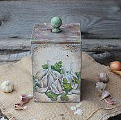 Для дома и интерьера ручной работы. Ярмарка Мастеров - ручная работа Короб-лаврушница. Handmade.