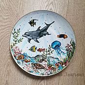 Посуда handmade. Livemaster - original item The interior plate of the Underwater world. Gift, woman, man.. Handmade.
