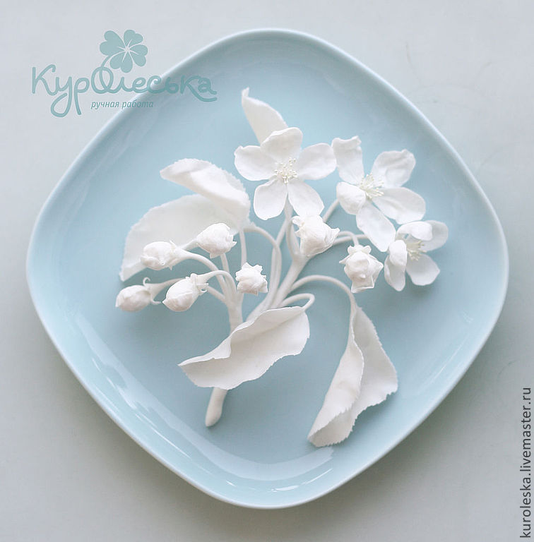 Тарелка из глины фарфор