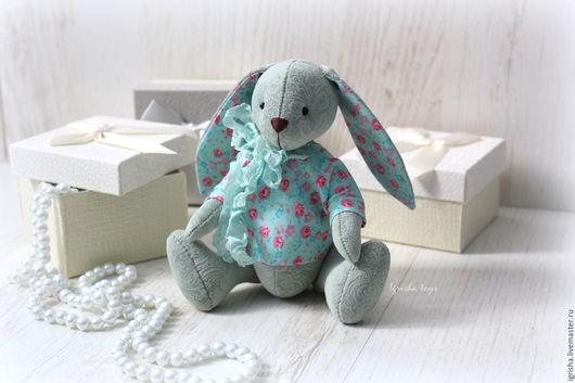 Игрушки животные, ручной работы. Ярмарка Мастеров - ручная работа. Купить Мятный зайчонок. Подарок новорожденному. Handmade. Мятный, поадрок