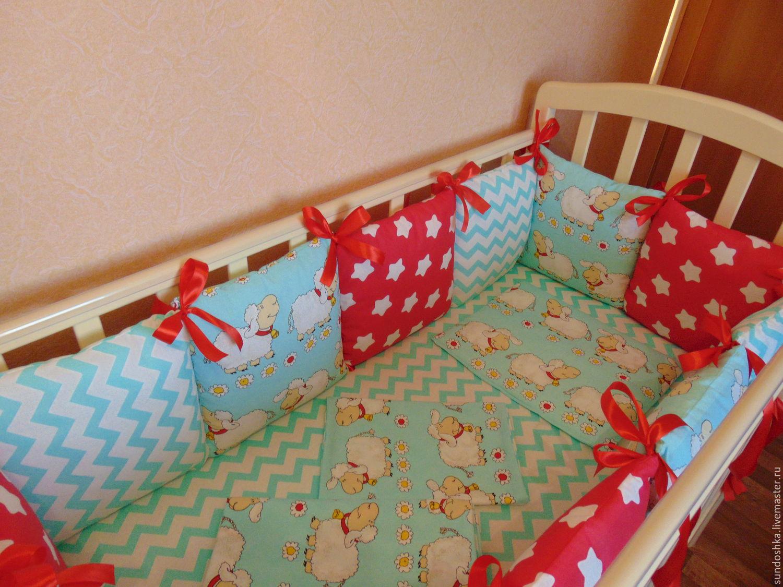 Бортики в детскую кроватку для новорожденных своими руками