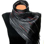 """Аксессуары ручной работы. Ярмарка Мастеров - ручная работа """"Черный бриллиант"""" шарф мужской валяный. Handmade."""