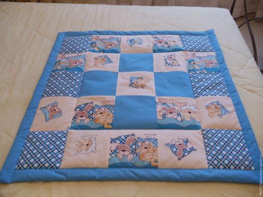 Пледы и одеяла ручной работы. Ярмарка Мастеров - ручная работа. Купить Детское лоскутное одеяло. Handmade. Голубой, одеяло детское