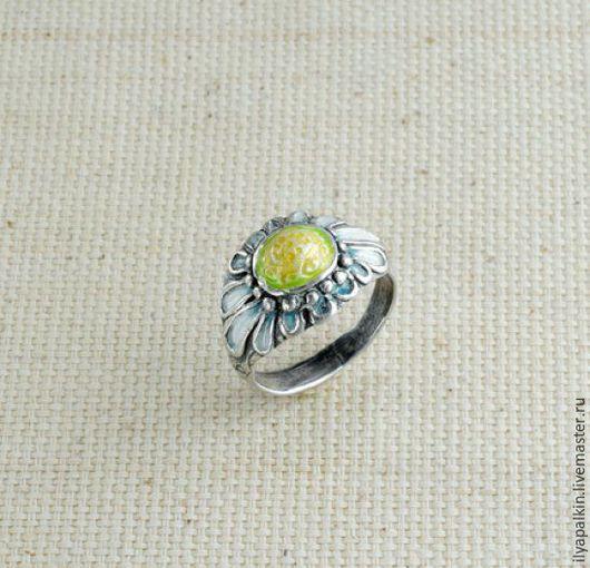 Кольцо из серебра мк 4а Серебро 925 `, горячая эмаль. Вес  6,06 гр. автор: Вера Палкина
