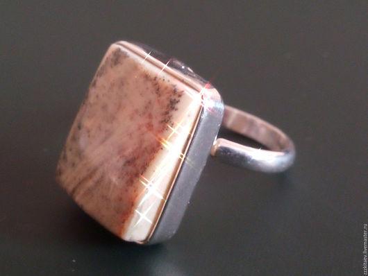 Кольца ручной работы. Ярмарка Мастеров - ручная работа. Купить кольцо МЕЛОК. Handmade. Серебряный, пейзажный янтарь